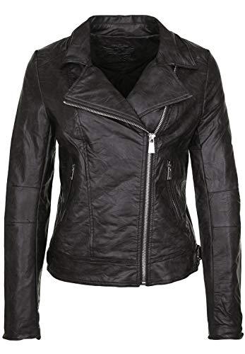 Fritzi aus Preussen Damen Virginia Limited Edition Heart - Biker Jacket Jacke, Schwarz (Black 1), X-Large