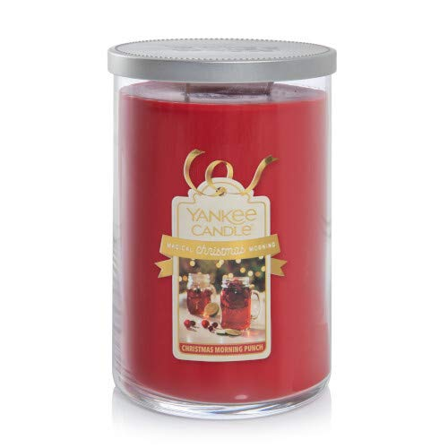 Yankee Candle Christmas Morning Punch — Magical Christmas Morning Collection — 2-Wick Glass Tumbler Candle — Large - 22oz - 110 Hours Burn Time