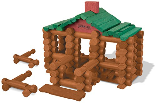Lincoln Logs –100th Anniversary Tin-111 Pieces-Real Wood Logs-Ages 3+ - Best Retro Building Gift Set for Boys/Girls - Creative Construction Engineering – Top Blocks Game Kit - Preschool Education Toy, Brown (854)