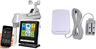 AcuRite 02064 Wireless Weather Station with PC Connect, 5-in-1 Weather Sensor and My AcuRite Remote Monitoring Weather App & AcuRite 06052M Remote Battery Pack for 5-in-1 Weather Sensors