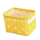 JimJim The WarmHome Decorative Basket Rectangular Fabric Storage Bin Organizer Basket Cosmetic Sundries (3)