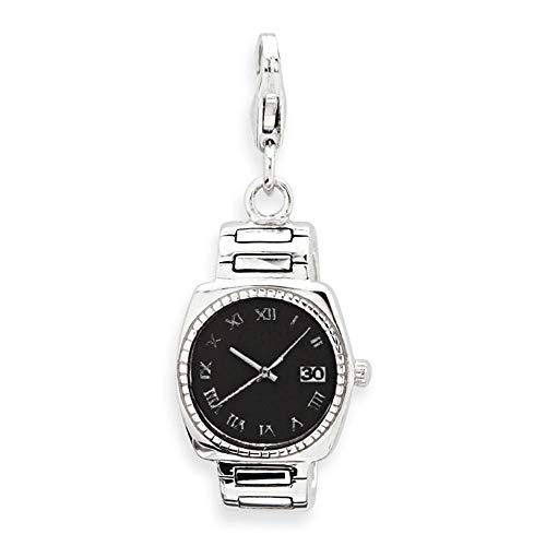 Exklusiver 925 Unique Silber Charm Uhr zum Einhängen CH0528