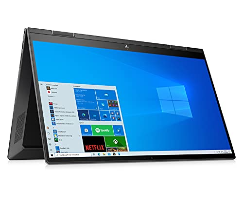 HP ENVY x360 15-ee0260ng (15,6 Zoll / FHD IPS Touch) 2in1 Convertible Laptop (AMD Ryzen 5 4500U, 16 GB DDR4, 512 GB SSD, AMD Radeon Grafik, Windows 10, QWERTZ) Schwarz
