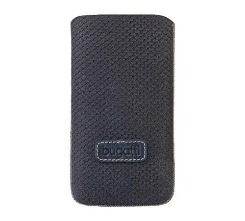bugatti Original Perfect Scale (Größe XL) Ocean Blau Genuine Leder Vertikal Tasche Hülle Etui mit Easy Release Technik Großpackung für geeignet Nokia Lumia 530 / Lumia 530 Dual Sim