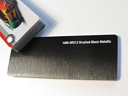3M (48,45€/m2) Scotchprint Wrap Film Series 1080 Schwarz Metallic Gebürstet gegossene Autofolie 100 x 152 cm Zuschnitt