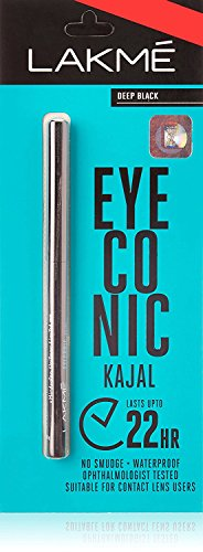 Lakme Eyeconic Kajal, Deep Black, 0.35 g (Pack of 3)
