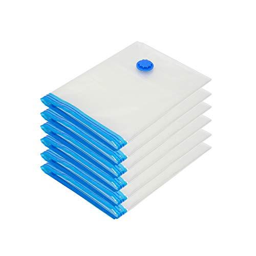 Edaygo Vakuumbeutel 80 x 60 cm, 6 Stück, Vakuum Aufbewahrungsbeutel platzsparend für Bettdecken Reise Kleidung