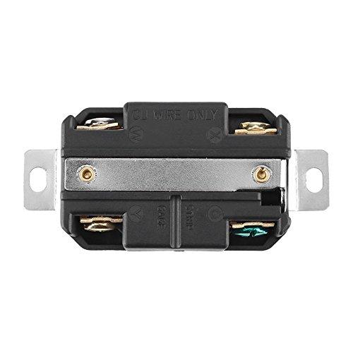 Enchufe eléctrico de bloqueo Receptáculo de pared hembra Tomacorriente para montaje de cable de generador NEMA L14-20R 125V-250V