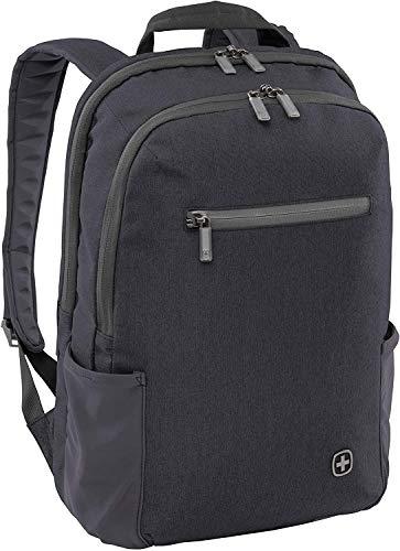 WENGER CityFriend Laptop-Rucksack, Notebook bis 16 Zoll, Tablet bis 12,9 Zoll, 19 l, Damen Herren, Business Uni Schule Reisen, Schwarz