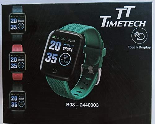 Time Tech 2440003 - Smart Watch unisex fitness tracker in silicone, colore: nero