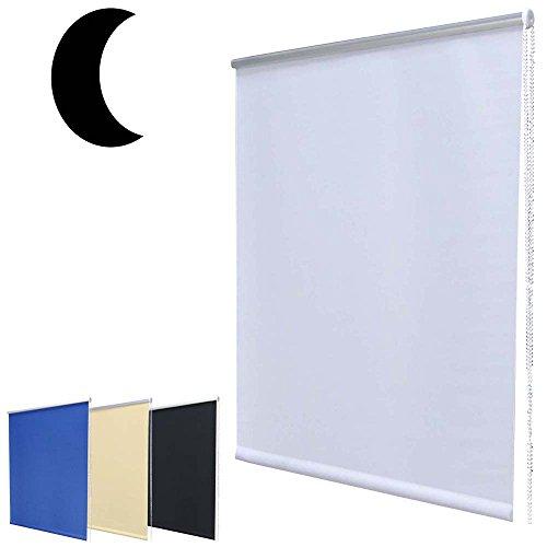 Hossi's Wholsale Mini tenda oscurante, non necessita di trapano, con blocco, bianca, 40 x 160 cm (larghezza x altezza), white, plastica;tessuto