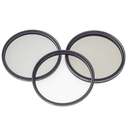 ProOptic 86mm Digital Essentials Filter Kit, with Ultra Violet (UV), Circular Polarizer and Neutral Density 2 (ND2) Filters, with Pouch