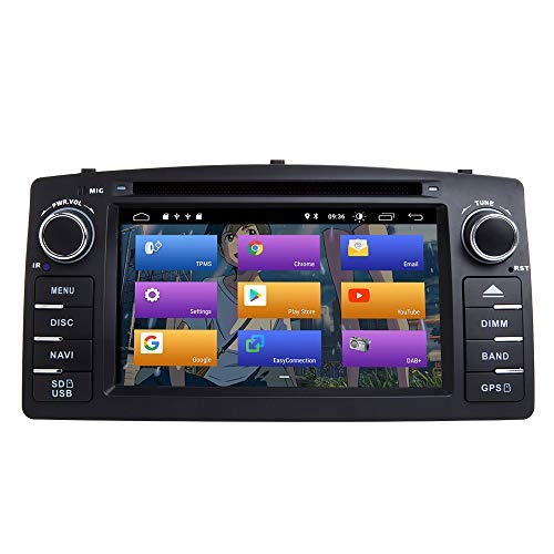BOOYES para Toyota Corolla E120 BYD F3 Android 10.0 Single DIN 6.2