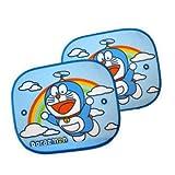 Newnews A Pair Of Cool Light Blue Doraemon Car Screen Window Sun shade Blind heat Block Visors