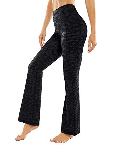 G4Free Pantalones Deportivos para Mujer Pantalones de Yoga Bootcut de Cintura Alta para Entrenamiento con Bolsillos de Trabajo Casual Bootleg