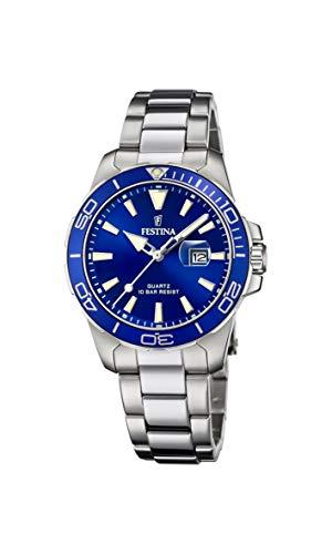 FESTINA Reloj Modelo F20503/3 de la colección Boyfriend Collection, Caja de 34,5 mm Azul con Correa de Acero para señora