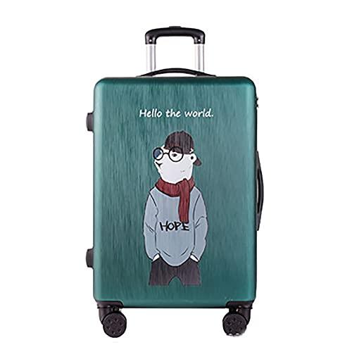SGCDKSP Maleta de equipaje de la muchacha del muchacho de la muchacha del equipaje caja de contraseña, verde 4