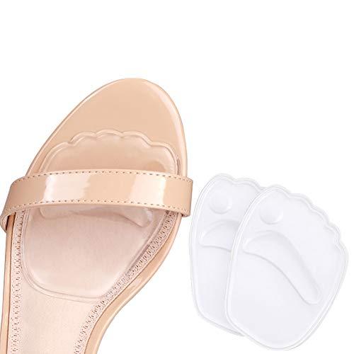 Haofy Plantillas de Zapatos con Tacón Alto, Elásticas Almohadillas del Antepié de Gel de Silicona para Alivio del Dolor del Antepié, 2 Piezas Almohadillas para Los Pies Medio plantilla