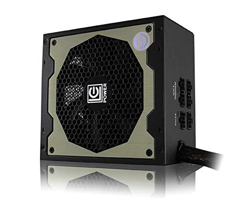 LC-Power LC8850III Fuente de Alimentación de PC 850W (12V, PFC Activo, ATX, Ventilador de 140 mm, Modular Progresivo, Certificación 80 Plus Gold, Eficiencia del Sistema Antivibración + 92%) 850W