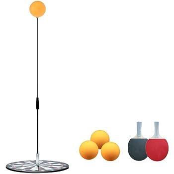 卓球練習機 ピンポン練習機 ピンポントレーニング 一人で練習できる卓球マシン 高さ調節可能 ボール拾いなし ストレス解消 ピンポン球3個 ラケット2本