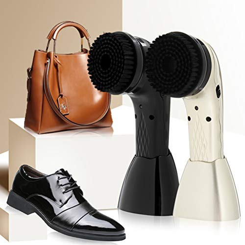 XGLL Wiederaufladbarer Drahtloser Schuh-Poliermaschine-Maschinen-Schuh-Reiniger Für Ledertasche/Schuhe / Sofa, Mit USB-Kabel,White