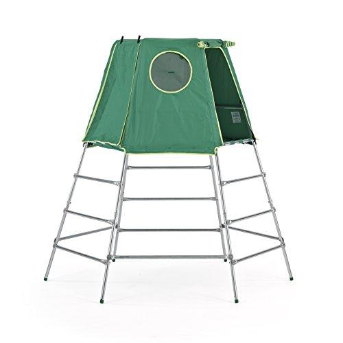 TP Toys Explorer 2 Platform & Tent Climbing Set Jungle Gym, Green, Model:TP843