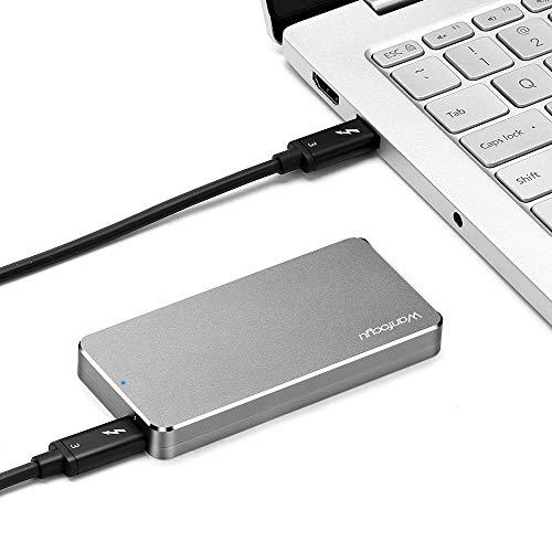 Thunderbolt 3 Externes tragbare Festplatten Gehäuse für PCIe NVMe M.2 SSD (M-Key), mit Thunderbolt 3 Kabel (M.2 SSD ist Nicht drin)