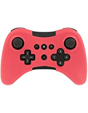 OSTENT Estuche de funda de silicona suave Estuche de bolsa de piel compatible con el controlador inalámbrico Nintendo Wii U - Color rojo