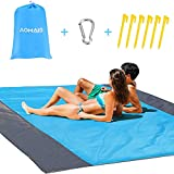 Beach Blanket Sandfree Camping Mat Waterproof Large【Comfortable For 12+Adults】Outdoor Travel Accessories & Portable Family Picnic Mat Lightweight Soft and Durable Machine Washable AOMAIS