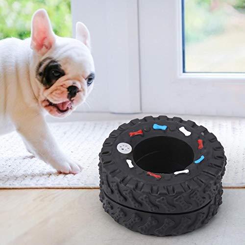Pet Dog Chew Toy Reifen Reifen Quietschendes Hundespielzeug Dog Tire Dental Chew Toy für Welpen Zahnen Hund Zahnen Reinigungstraining