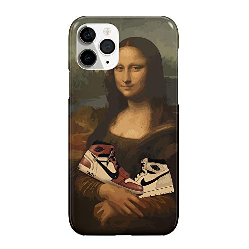 CowallsBen Sneakers and Mona Lisa Hype_CW6099 for iPhone 11 Protective Phone Mobile Smartphone Case Cover Handyhulle Handyhülle Hülle Schutz Hard Plastic Funny Gift Christmas