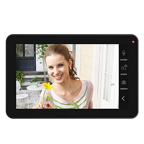 NA Home App Control 2X 9 inch Monitor WiFi Draadloze Video Deur Telefoon Deurbel Intercom Vingerafdruk Wachtwoord Ic Kaart Camera Kit