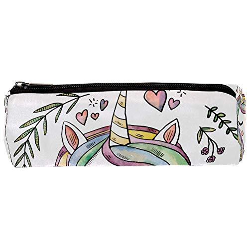 Federmappe mit Einhorn-Motiv, leicht, für Bleistifte, Füllfederhalter, Kugelschreiber, Eingabestift, bunt, 20,1 x 6,3 cm