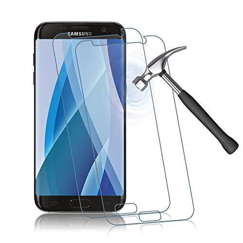 Agedate 2 Stück Panzerglas Schutzfolie für Samsung Galaxy S7, HD Panzerglasfolie für Samsung Galaxy S7, Anti-Scratch, Anti-Fingerabdruck, Fallfreundlich Displayschutzfolie (Transparent)