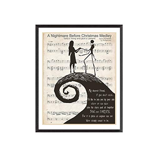 DAPA GL The Nightmare Before Christmas Poster Print, My Dearest Friend Art, Bedroom Wall Décor 8x10 Unframed