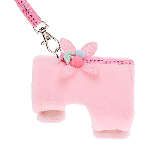 Guinzaglio Morbido Piccolo Vestito per Criceto Cincillà Animali Domestici - Rosa S