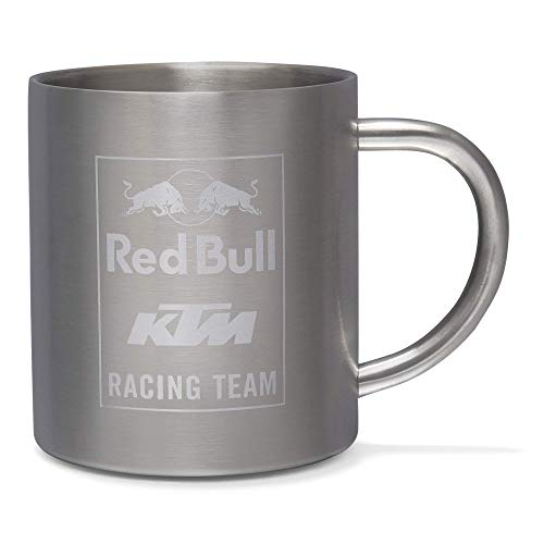 Red Bull KTM Mosaic Steel Mug, Gris Unisex One Size T-Shirt, Red Bull KTM Factory Racing Original Bekleidung & Merchandise