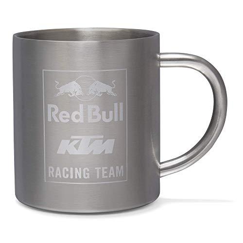 Red Bull KTM Mosaic Steel Mug, Gris Unisexo talla única Top, Red Bull KTM Factory Racing Original ropa & accesorios