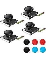 Drie analoge thumbstick joystick voor Nintendo Switch Joy-Con, 3D vervanging links en rechts controller analoge rocker stang stick met dop 4 stuks.