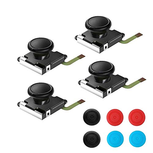 Thlevel analoge Thumbstick Joystick voor Nintendo Switch Joy-Con, 3D vervanging links en rechts controller analoge rocker stang stick met dop 4 stuks.