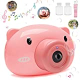 Sisliya Bubble Camera Blower Machine Electric Music Flashing Light Bubble Machines Automatic Camera Shape Bubble Toy for Indoor Outdoor Playing for Kids & Toddlers, Birthday Parties and Family Fun