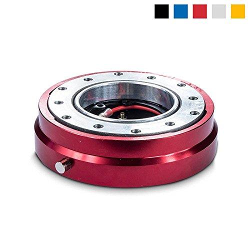 Preisvergleich Produktbild Snap Off Lenkrad Schnellverschluss - Sportlenkrad Quick Release für Sparco,  Momo,  OMP Sport Lenkräder - Flache Ausführung (Rot)
