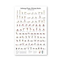アシュタンガプライマリーシリーズヨガポスターキャンバスアートプリントヨガルームウォールアートガールズフィットネスギフトジムアートペインティングデコレーション-50x70cmフレームなし