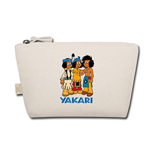 Spreadshirt Yakari Mit Indianer Kleiner Dachs Und Regenbogen Täschchen, Natur