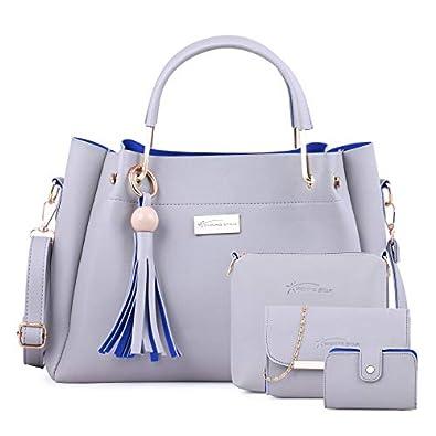 JFC Women's Handbag With Sling Bag (Set of 2) (ST-004SBLUE CL_Sky Blue)