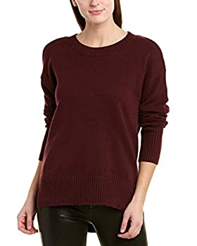 BCBG Max Azria Women s Cold Shoulder High-Low Long Sleeve Sweater Purple Size XS