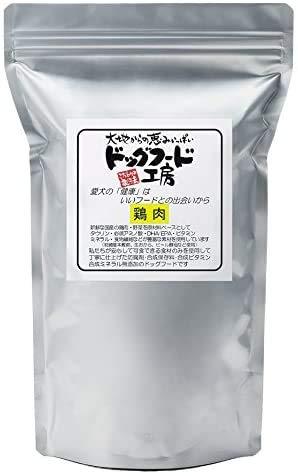 ドッグフード工房 無添加 国産 (生づくり製法) ドライフード 通常粒 カリカリタイプ (鶏肉 / 750 g) 天然素材 シニア/成犬用/小型犬/餌