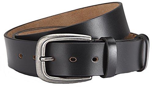 GIL-Design Überlängen sangle de ceinture pour homme en cuir véritable de qualité supérieure de 3,8 cm