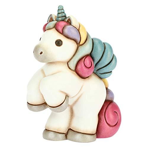 THUN - Soprammobile Unicorno Galoppante Multicolore - Accessori per la Casa - Linea Unicorno - Formato Medio - Ceramica - 9,9 x 5,5 x 13,2 h cm