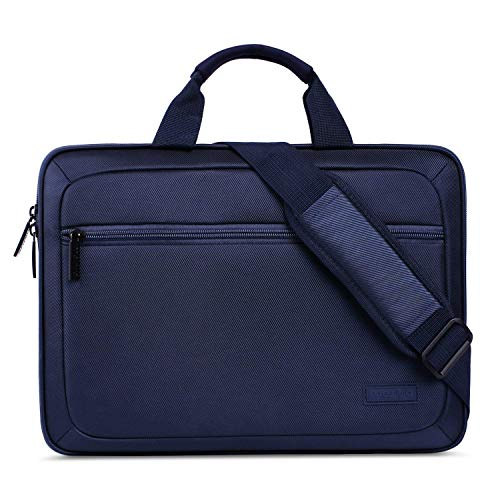 MOSISO Eva Shockproof Laptop schoudertas Portable Multiuse Business aktetas Messenger Laptop Sleeve Hoes Unisex Tote Handtas met Backriem Trolley Case marineblauw